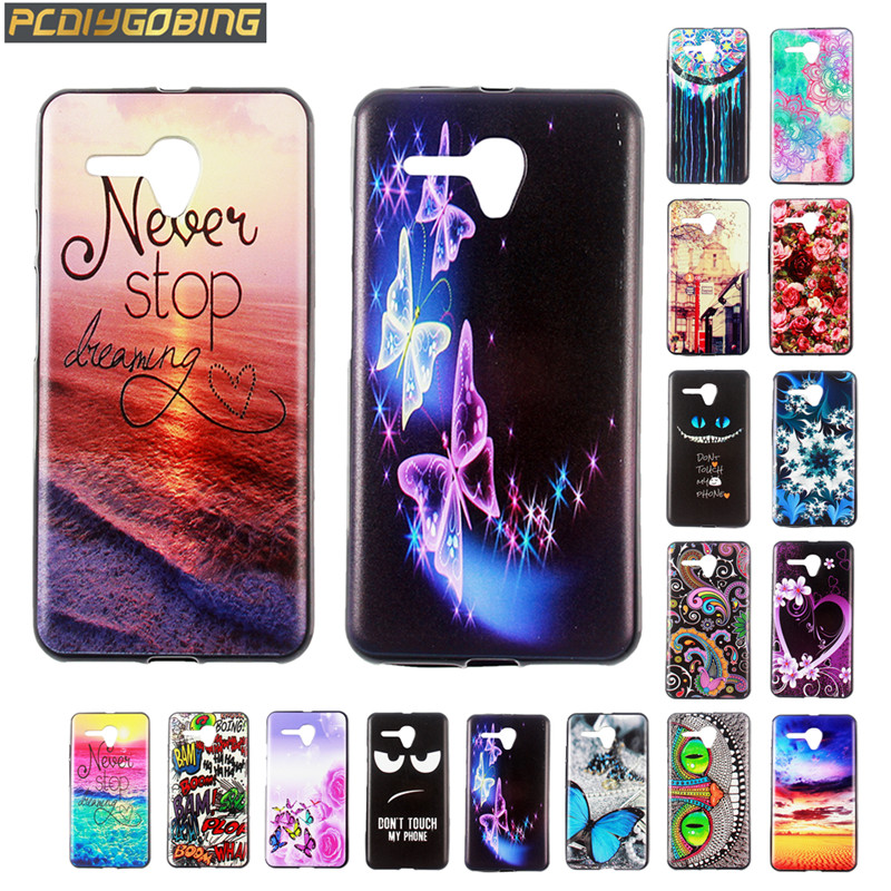 Back Case For Alcatel Pop 3 3g Ot5065 5.0 Inch Soft Tpu Cover Phone Cases Cartoon Cute Shells Protection Cover Printing Pattern Half-wrapped Case