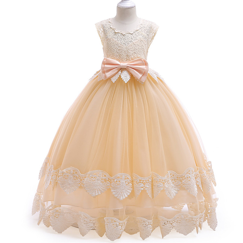 New 3-12 year girls dress High quality sleeveless Floral Lace Princess dress wedding dress for girls teenagers kids party dress best floral imprint sleeveless skater dress