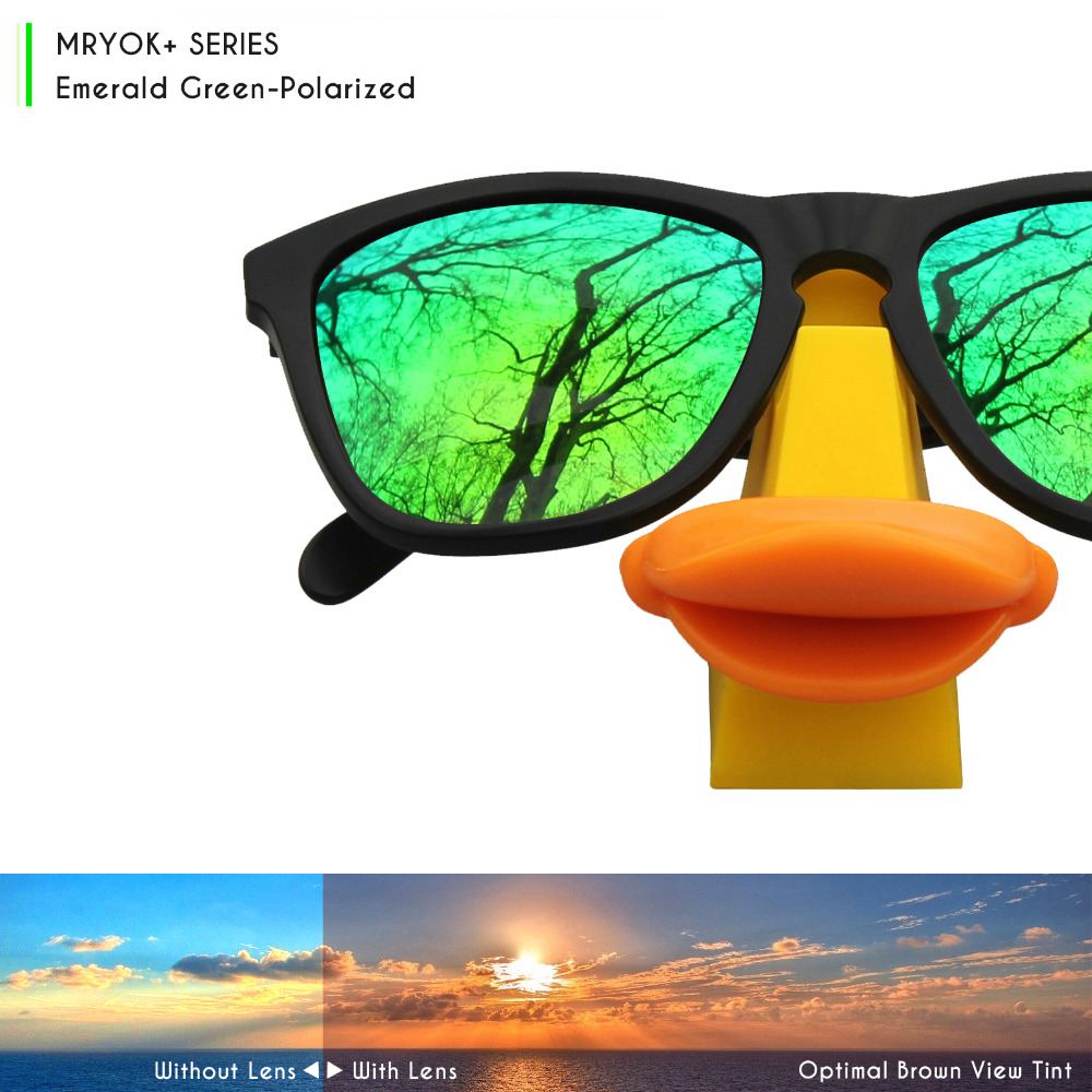 2f997d69930c Mryok+ POLARIZED Resist SeaWater Replacement Lenses for Oakley Flak Jacket  XLJ Sunglasses Emerald Green-in Accessories from Apparel Accessories on ...