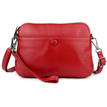 купить Guaranteed Genuine Leather Cross-body Bags Multi-function Messenger Bag Women's Leather Bag 2019 New Arrivals Women Clutch Bags дешево