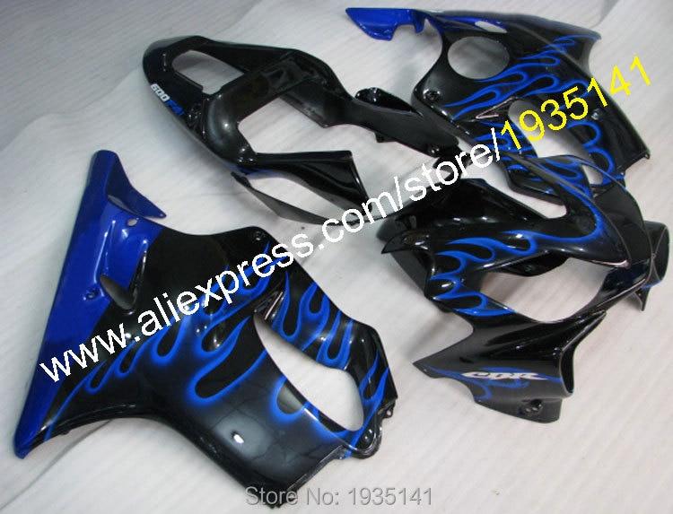 Горячие продаж,для Honda ЦБ РФ 600 F4i 2001-2003 CBR600 F4i 01 02 03 ЦБ РФ 600F4i синим пламенем кузова ABS обтекатель комплект (литья под давлением)