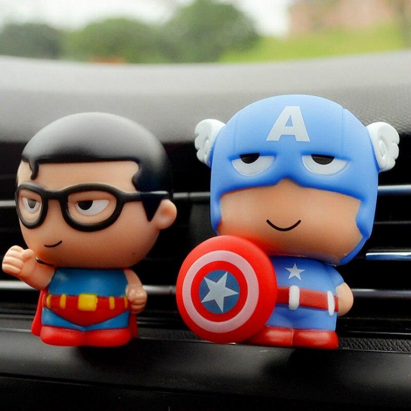 Автомобильный освежитель воздуха MR TEA, фигурки супергероев, автомобильный рассеиватель запахов, автомобильный ароматизатор, зажимы для дух...