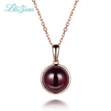 I&Zuan 925 Sterling Silver Fine Jewelry Natural 5.41ct Garnet Dark StRed Stone Necklace & Pendant For Women Fashion Accessories