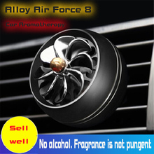 Car Air Freshener Vent Perfume for Decor LED  Fan Fragrance Clip