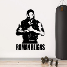 Beauty Roman Reigns Home Decor Wall Stickers For Baby Kids Rooms Decor Decal Creative Stickers цены