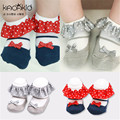Cotton Newborn Baby Socks for Summer Kacakid Spring Floor Children's Socks for Newborns calcetines bebe Bowknot Fake Shoes sale