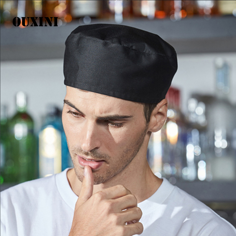 Chef Hat/cap Quality Waiters Working Hat For Men And Women In The Kitchen Fun Chef Toque Classic Flat Caps