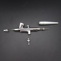 1 stks Enkele Actie Mini Airbrush Spuitpistool Air borstel 0.4mm Naald Tattoo Verf, 2CC Airbrush Pen kit Nail Make Craft Manicure