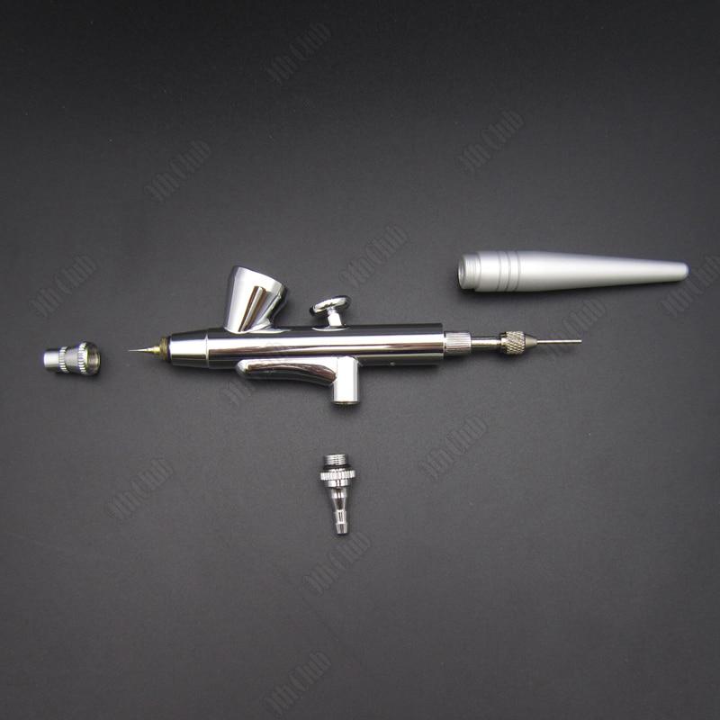 1db Single Action Mini Airbrush Spray Gun levegő ecset 0.4mm tű tetováló festék, 2CC Airbrush tollkészlet köröm smink kézműves manikűr
