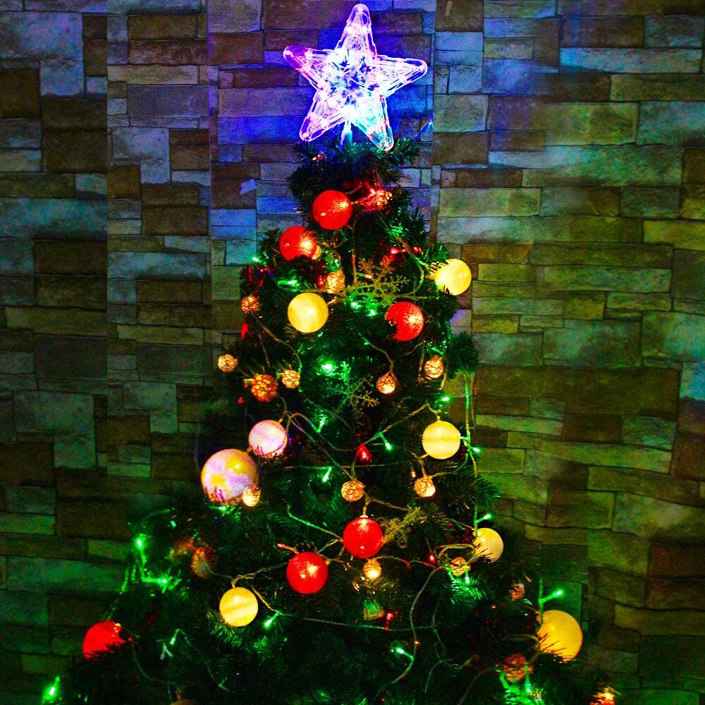 llev rbol de navidad luz de navidad luz de la secuencia de jardn iluminacin de vacaciones