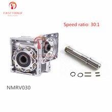 Скорость 30: 1 червь Шестерни редуктор RV30 NMRV030 RV030 червь Шестерни коробка Скорость редуктор+ вал для NEMA23/36/42 Sevor/шаговый двигатель