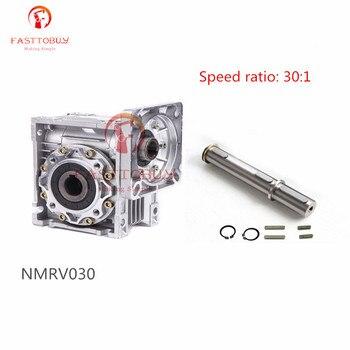 NMRV030 Geschwindigkeit Verhältnis 30:1 wurm Getriebe Minderer RV30 RV030 Wurm Getriebe Speed Reducer mit Welle für NEMA23/36/42 Sevor/Stepper Motor