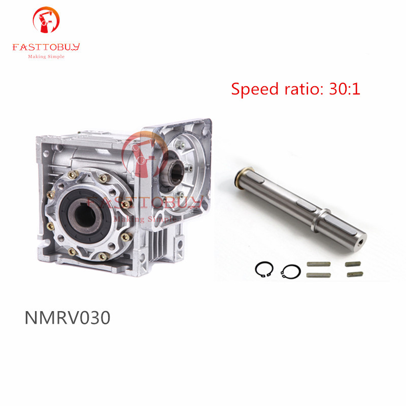 New Speed Ratio 30:1 Worm Reducer RV30 NMRV030 RV030 Worm Gearbox Speed Reducer for NEMA23 Sevor / Stepper Motor цена 2017