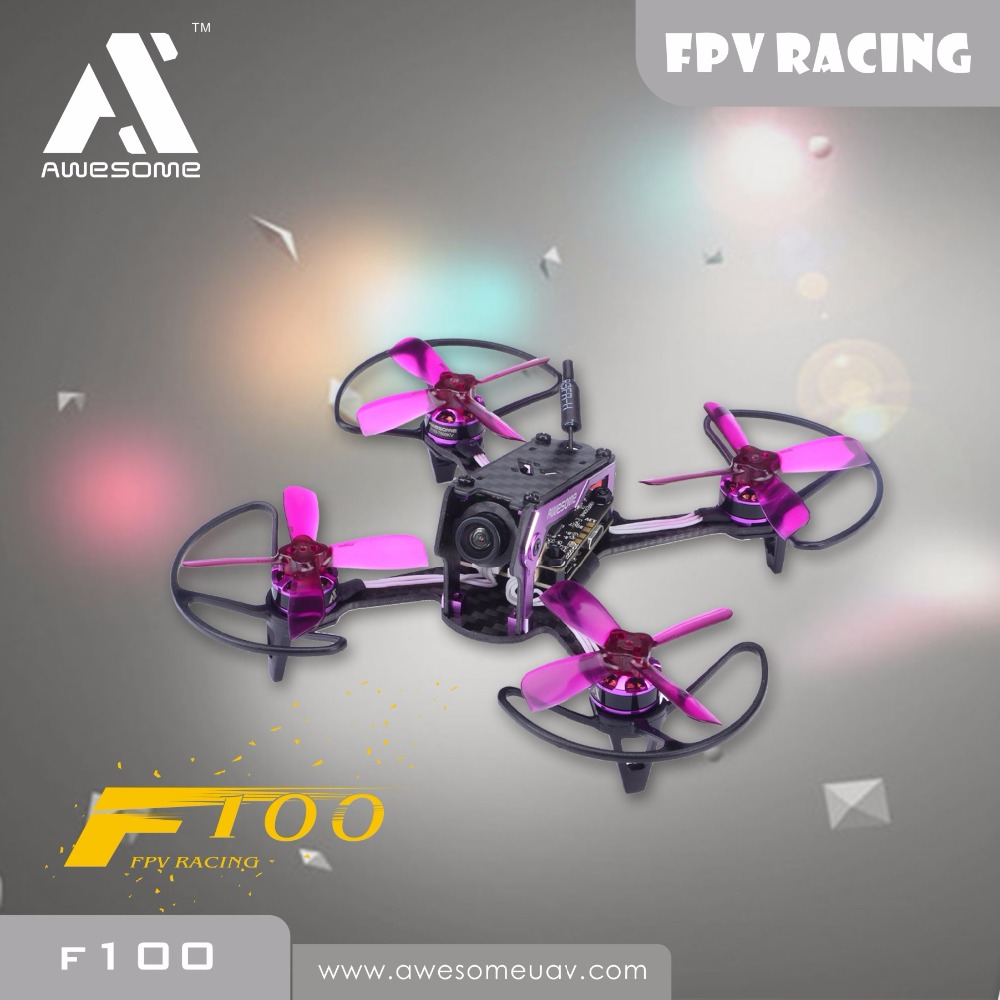 awesome ts 195 195mm f3 fpv racing drone pnp black and golden Awesome F100 mini FPV Racing Quadcopter Drone PNP RC Drone With Omnibus F3 OSD 5.8G 25mW Blheli_S 10A 600TVL Camera