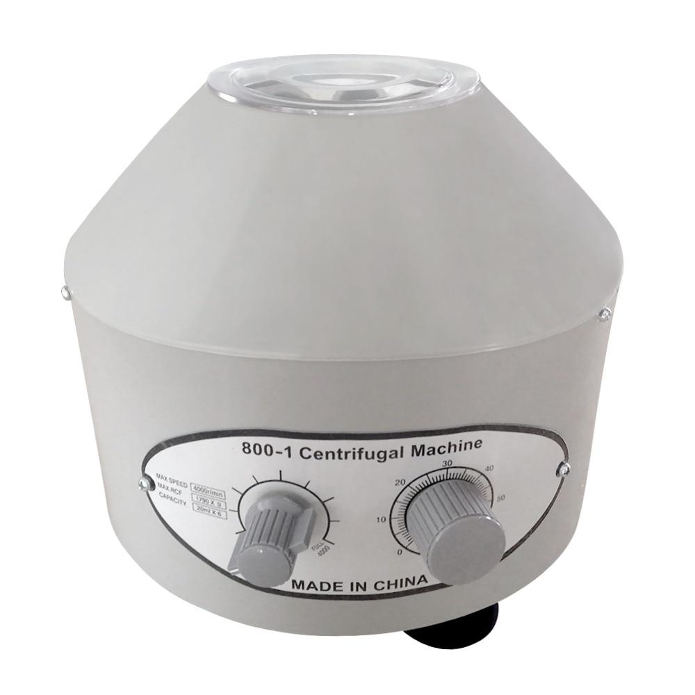 20ml 6pcs Electric Medical Laboratory Centrifuge Separation Timing Adjusted Practice Machine Centrifuge Tube Prp Isolate Serum