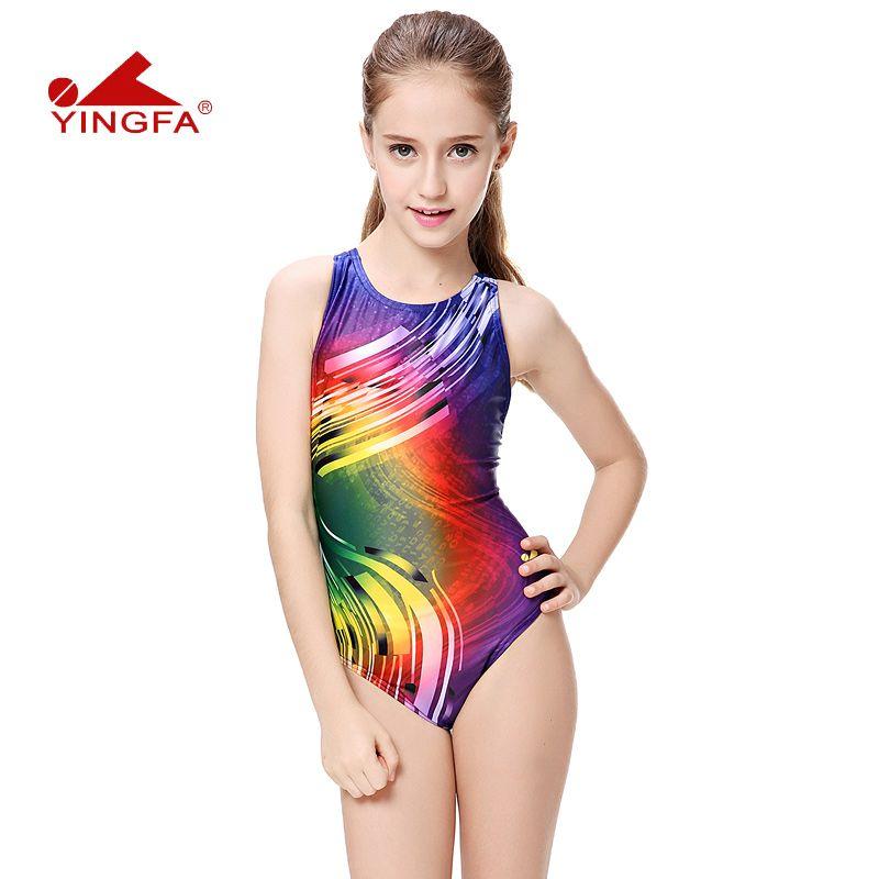 Yingfa fürdőruha fürdőruha arena Lányok fürdőruhák gyermekverseny verseny gyerekek úszás ruhák professzionális meleg