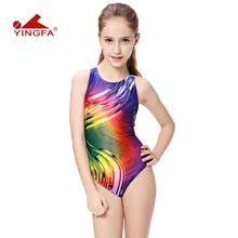 0bef26b631de6 Yingfa swimwear swimsuit arena Girls swimsuits children racing competition  kids swimming suits professional hot(China