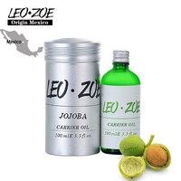 LEOZOE Jojoba Oil Certificate Of Origin Mexico Authentication Jojoba Essential Oil 100ml Oleo Essencial Huile Essentielle