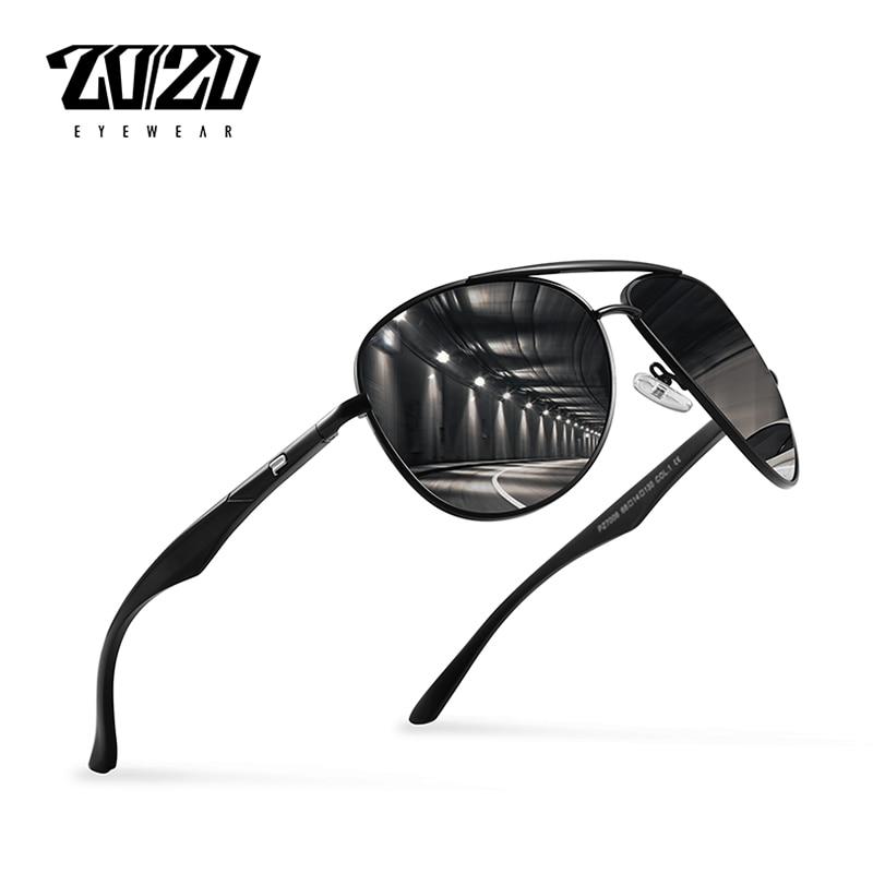 20 20 Nova Nova Marca Polarized Óculos De Sol Dos Homens Óculos de Sol Da  Moda de Alumínio de Viagem de Condução Masculino Óculos Oculos PZ7006 d4f6fe1d52