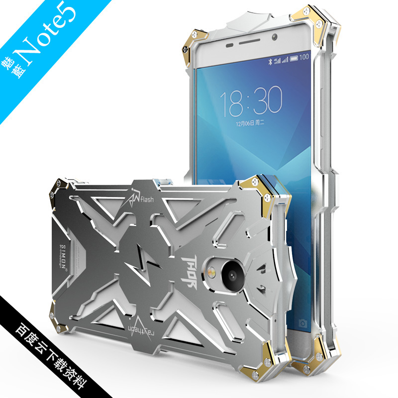 Original Zimon For Meizu M5 Note Case Design Metal Aluminum Armor Series Cover Cases For Meizu
