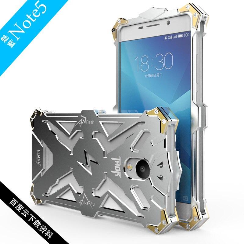 Цена за Оригинальный zimon для Meizu M5 Note чехол Дизайн металла алюминиевая броня серии Чехлы для Meizu M5 Примечание телефон Корпус