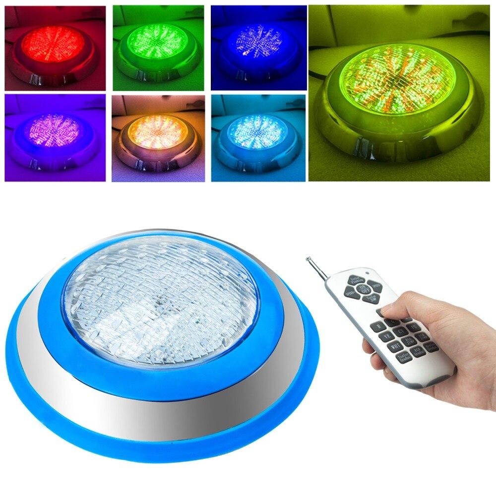 Lumières de piscine de LED, AC 12 V 54 W, Spash de couleur de rvb, IP68 imperméable, lumière de piscine pour la piscine creusée, lumière extérieure de tache