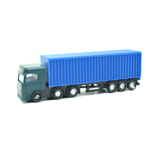 цена на 1:100 scale 12cm long architectural model plastic miniature Container truck trailer for model building train layout
