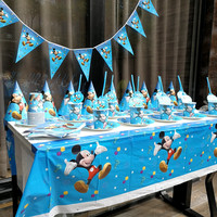 152Pcs/lot Party Supplies Cartoon Mickey Mouse Theme Set Children's Birthday Party Supplies Various Tableware Sets