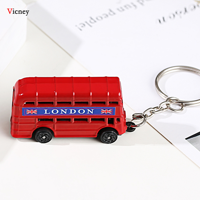 London Red&Blue Bus Key organizer Mail Box Key Holder Key Pendant Keychain Souvenir Gifts For Men Key chain Key Ring keyring 3
