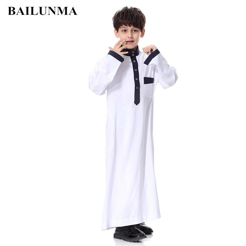 910b4b8e9ca59 US $15.75 Boys Islamic Clothing Kids Muslim Thobe Arab Abaya Robes ...