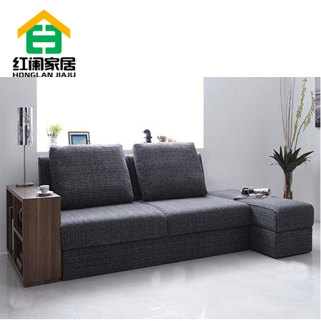 Korean small apartment sofa fabric sofa bed multi function ...