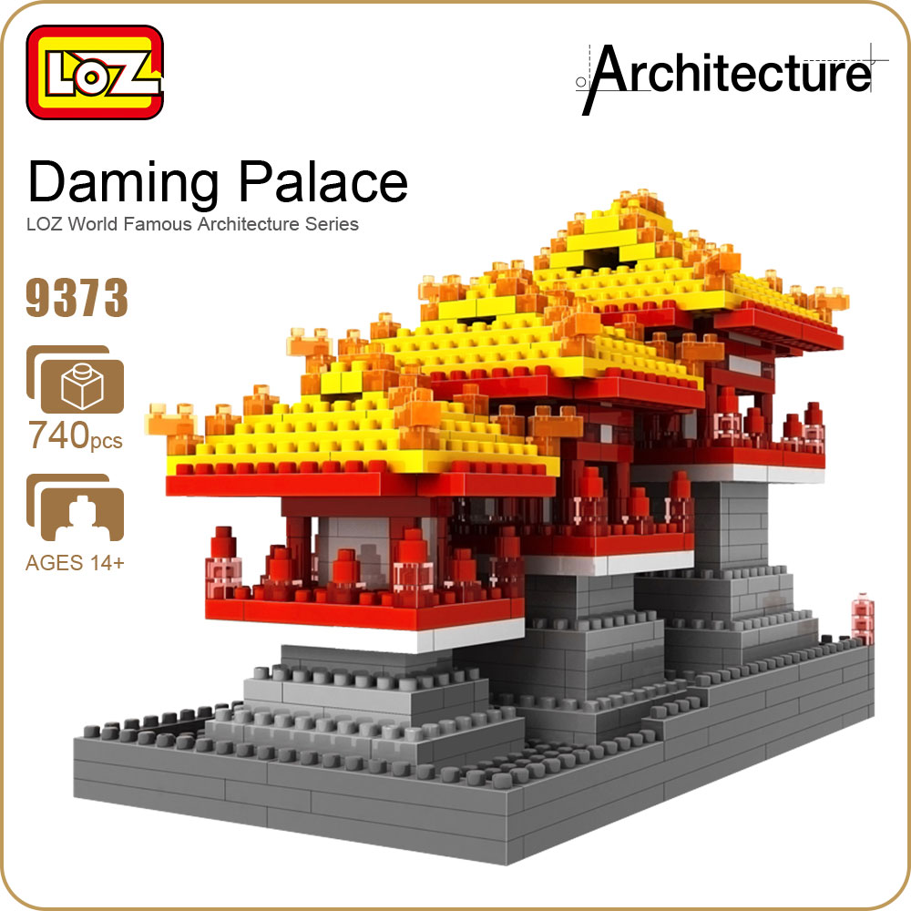LOZ Diamond Block Education Kids Ancient Famous Buildings China Architecture Building Blocks Ladrillos Micro Bricks Creator 9373 lego education 9689 простые механизмы