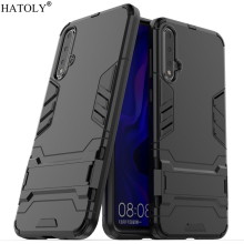 For Huawei Nova 5 Pro Case Silicone Rubber Robot Armor Hard PC Back Phone Cover for