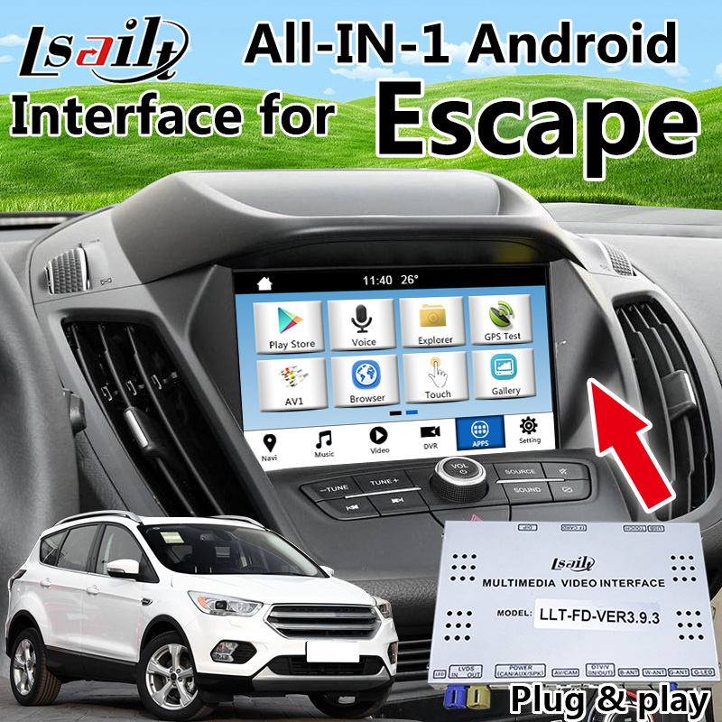 ALL-IN-1 Plug en Play Android Auto GPS Navigatie voor Ford Escape - Auto-elektronica