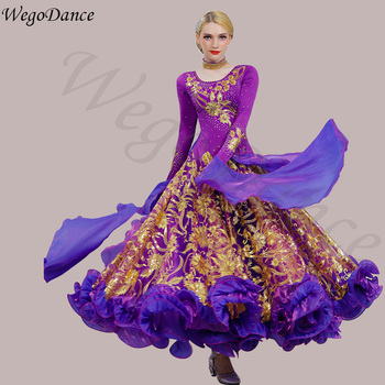 Custom new morden dance dress waltz big national standard dance costume ballroom dance competition dresses 8colors