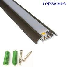 10 Uds. De canal de tira LED de 1m de longitud, envío gratis, canal de aluminio con tira led, carcasa Artículo No. LA LP28 para tira led de 12mm de ancho