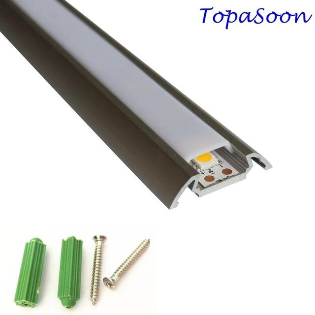 10PCS 1m length LED strip channel free shipping led strip aluminum channel housing Item No. LA LP28 for 12mm width led strip