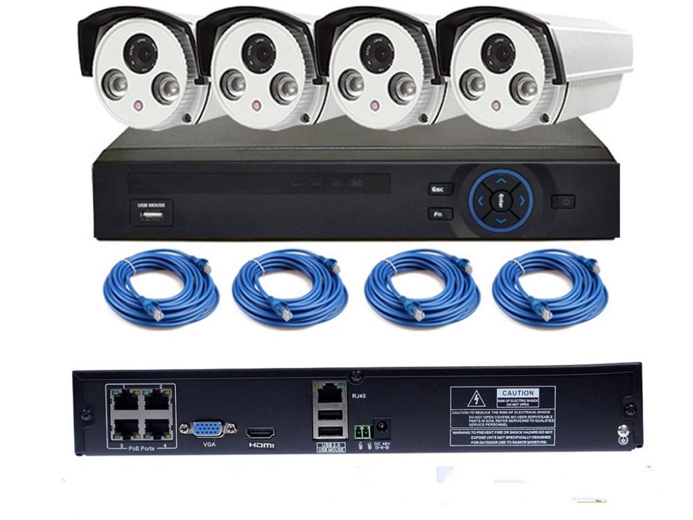 4CH POE NVR Kit 720P POE Camera System HD Security IP Camera System CCTV Monitor System Surveillance Network Camera System system