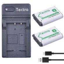 Tectra 2 Pcs NP-BX1 NPBX1 bateria pack + USB Carregador para Sony HDR-AS100v AS30 AS15 DSC-RX100 HX400 WX350 Digital Câmeras