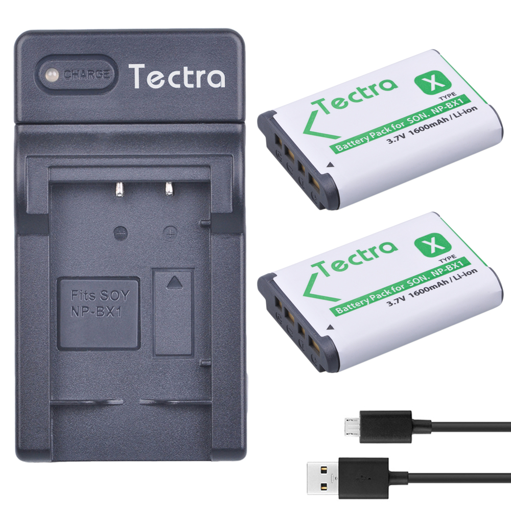Tectra 2Pcs NPBX1 NP BX1 bateria pack USB font b Digital b font Charger for Sony