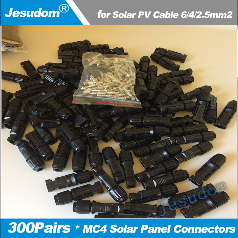 300 Pairs lot 600 Pieces TUV IP67 MC4 Solar PV Connector Female Male 2 5 4