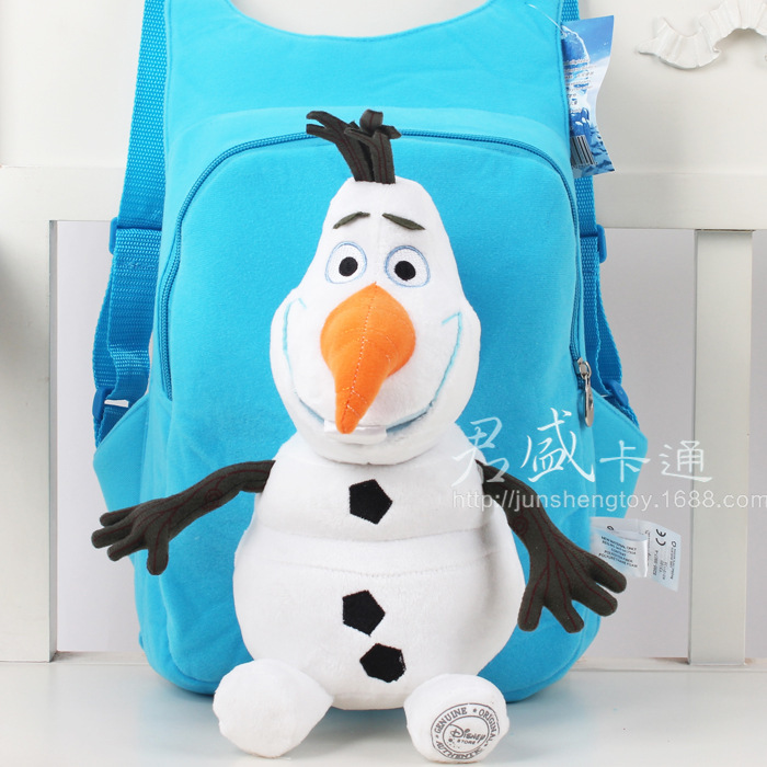 Vin Snowman Olaf Anna Elsa Ice Plush Backpacks Children Shoulder Bag School Bags 1 3 Years Old In From Luggage On Aliexpress Alibaba