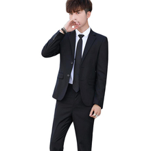 Business suit solid color slim free shipping