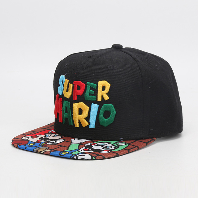 320e50b65b6 Super Mario Bros Hats Mario Luigi Yoshi Snapback Baseball Caps Cartoon  Adult Casual Summer Sun Hats Couple Hip Hop Caps
