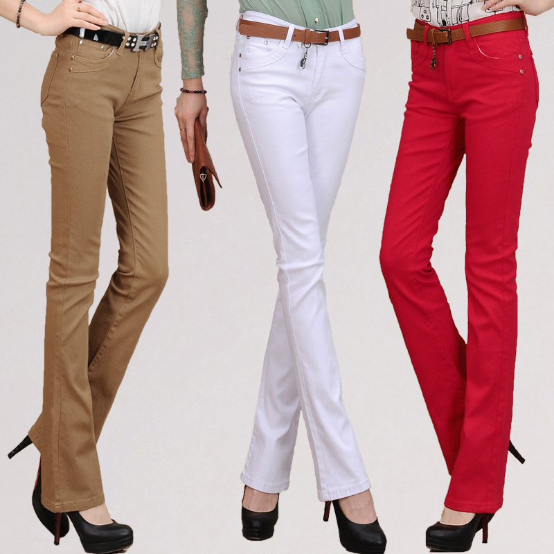 Red Bootcut Jeans For Women - Xtellar Jeans