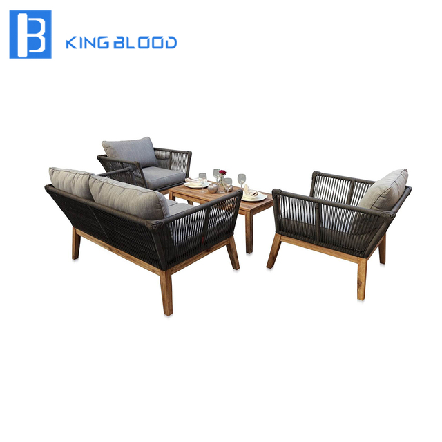 Use For Hotel Public Area Round Rope Furniture Outdoor Sofa Set