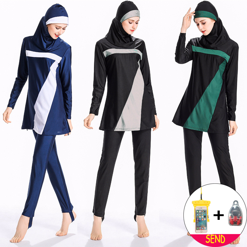 b62e6b6bb3c15 2018 Moslim Women Muslim swimwear Modest Women Muslim Hijab Swimsuit  Islamic Swimsuit Plus Size Swimwear Beach Bathing Suit