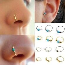Сексуальное Золотое кольцо для носа из нержавеющей стали ноздри кольцо пирсинг носа ювелирные изделия