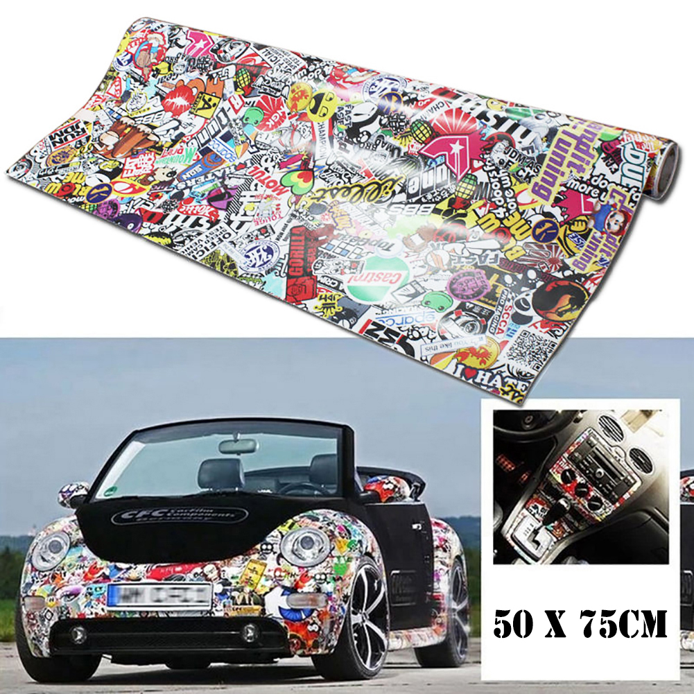 Rock Panda Cartoon Graffiti Car Sticker Bomb Wrap Sheet Decal Sticker 20