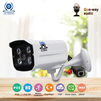 ZSVEDIO Surveillance Cameras NVR POE IP Camera Alarm System Cameras POE HD IP Camera Outdoor CCTV